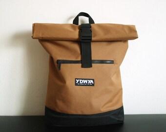 Traveller Backpack - Minimal Backpack - Reiserucksack - Rucksack - Daypack (beige/sand/caramel) YDWYA