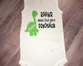 Personalized Dinosaur Baby Onesie or T-Shirt