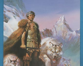 Lord Of The Wolves By Boris Vallejo, Book Plate Print  Fantasy Art
