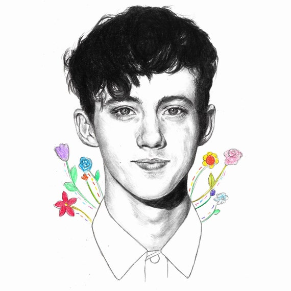 Items similar to Troye Sivan Pencil Drawing Illustration ...