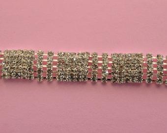Rhinestone trim/ Rhinestone Chain/ Formal gown belt/ Swarovski shine high quality crystal