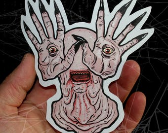 Pan's Labyrinth Pale Man Inspired Large Paper Sticker