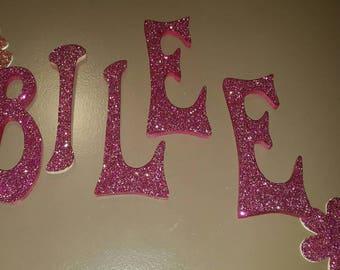 Custom Glitter Wall Letters 5 inch
