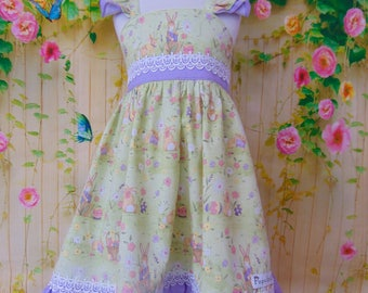 Easter Dress - Child's Easter Dress - Toddler Easter Dress - Girl's Dress - Bunny Dress - Toddler Dress  - Easter Outfit - Ready to Ship 3T