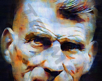 Samuel Beckett Art Print - Oil Painting Poster  LFF0173