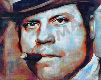 Oliver Reed Art Print - Oil Painting Poster  LFF0140