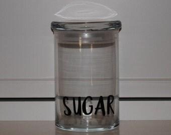 31 ounce Glass Jar 'Sugar'