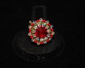 Christmas fashion ring