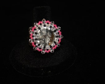 Pink and Black ring