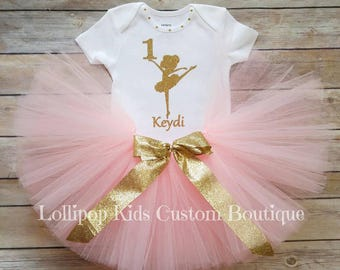 Ballerina Birthday Top/tutu *vinyl*