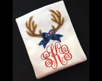 Monogram Buck and Bow Top / Shirt