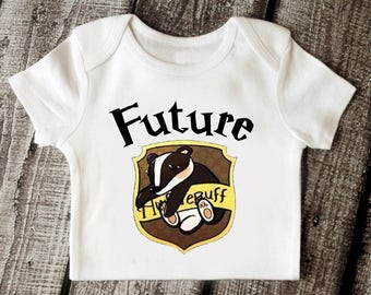 Baby Hufflepuff Crest Babysuit, Harry Potter Onesie, Harry Potter Baby, Harry Potter Baby Clothing