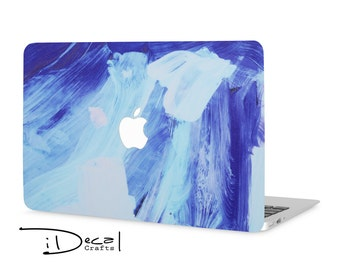 "Blue Paint macbook decal macbook skin macbook sticker Macbook Air 11, Macbook Air 13 & Mac Pro 13 Retina, Macbook 12"", Macbook Pro 15 Retina"