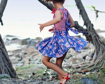 Twirly skirt suspenders