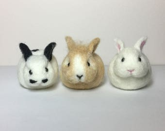 Needle Felted Bunny, Needle Felted Rabbit, Needle Felted Animal, Mini Bunny, Rabbit Ornament, Bunny Keychain, Bunny Bag Charm, Easter Bunny