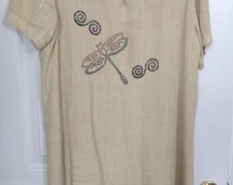Vintage Linen Shift Dress PL