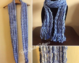 Waterfall Scarf in Shades of Blue