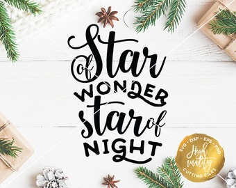 Star of Wonder Star of Night SVG DXF Cut File, Christmas SVG Cut File, Holiday Svg, Christmas Clipart, Christmas Decor Svg, Holiday Quote