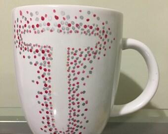 Single Initial coffee mug - Cute coffee mug - Initial Coffee mug