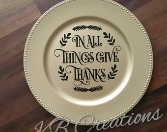 Thanksgiving Display Plate