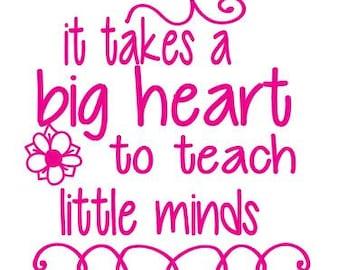 Big Heart to teach Little Minds SVG