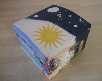 Day & Night Hand Painted Wooden Box