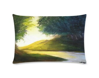 "Rectangle Pillow Case 20""x36"" +3 other sizes -Over the Hill & Far Away- FREE Shipping"