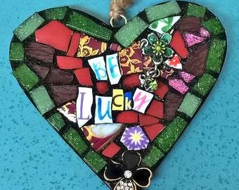 Be Lucky mosaic heart