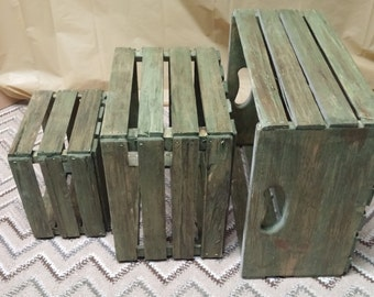 Handmade, Old fashion,  Rough and Rustic Wood Crates