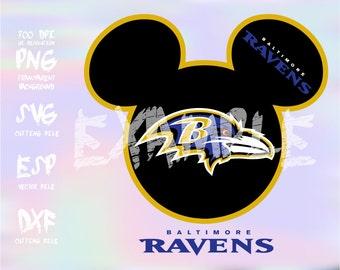 Mickey heads Sport logo football team Baltimore Ravens ,clipart,SVG,PNG 300dpi ,ESP vector