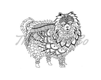 Dog coloring page | Etsy