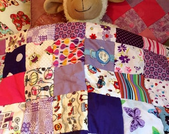 Purple Baby Girl Patchwork Quilt // blanket // Play Mat // baby shower // baby gift