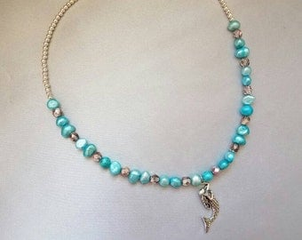 "17"" Mermaid Pearl Necklace"
