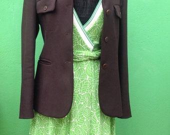 Vintage 90s Miu Miu MIU MIU Jacket////Brown Miu Miu//90s vintage Jacket/Coat/Jacket//Miu Miu Miu Miu