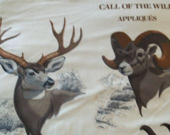 Call Of The Wild Applique Fabric Panel