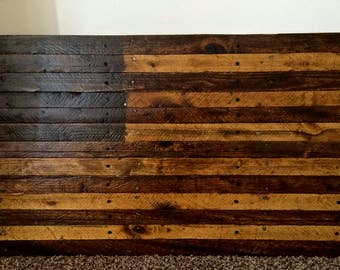Custom Stained Pallet American Flag