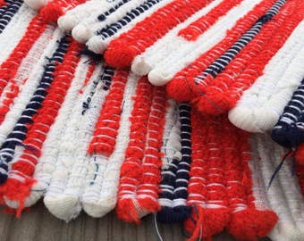 The Patriot - Woven Rug - RED WHITE BLUE  (a20)