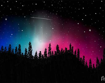 Landscape Art-  Northern Lights