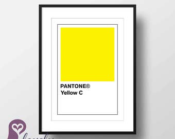 Pantone Yellow Poster | Pantone | Color | Design | Wall Art | Wall Decor | Home Decor | Prints | Poster | Digital Paper
