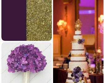 Hydrangea Bridal Bouquet, Deep Purple Bouquet, Violet Wedding Flowers, Hydrangea Wedding Flowers, Boutonniere,  Bouquet, Bridal Flowers