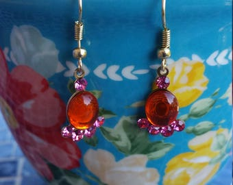 Inexpensive bling: rhinestone earrings