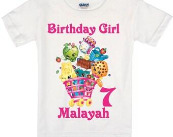 Shopkins Birthday Shirt Peronalized