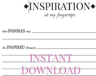 Inspiration Worksheet for Planners, Journals, Notebooks