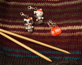 One of a Kind Kiss x Hello Kitty Progress Keepers/Stitch Markers 4 Pack