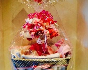 Girls Baby Gift Basket, Pick of 4 items