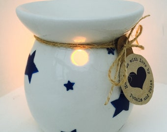 Handmade Emma Bridgewater Starry Skies Oil Wax Burner