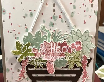 Handmade stampin up Mother's Day card