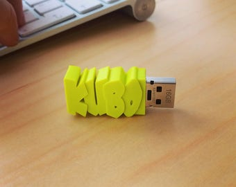 USB Flash Drive With Custom Name - 3D printed