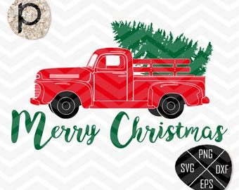 Christmas Tree Delivery Truck SVG*Truck SVG*Christmas Truck Old Truck svg*Christmas svg*clipart,eps,dxf,png*Cutting Files*Cricut*Silhouette