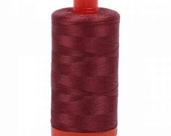 Aurifil Mako Cotton Thread Solid 50wt 1422yds Raisin 1050-2345